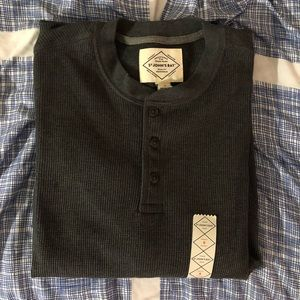 Men's St. John's Bay Gray Long Sleeve Henley Small